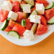 Greek salad with fresh vegetables - Stock Photo