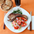 Royalty-Free Stock Photo: Steak with salad