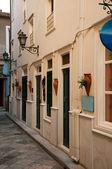 Greek city Street on the island Syros — Stock Photo