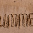 Stock Photo: Inscription on sands-summer