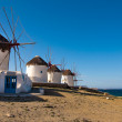 Windmills - a symbol of Mykonos island — Stock Photo