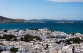 View of Chora Mykonos and the Sea — Stock Photo