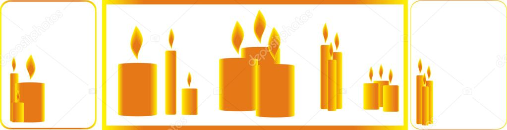 Candles on a white background — Stock Vector #1470274