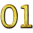 Number 2010 golden digit — Stock Photo