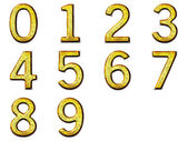 Set 3D golden digit in alloy with silver — Stock Photo