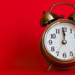 Stylish classic alarm clock — Stock Photo