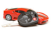 Sport car model with key — Stock Photo