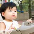 Stock Photo: Asian Baby In Stroller