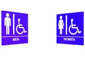 Men Women Restroom Sign — Stock Photo