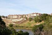 Bejaardentehuis op een heuvel — Stockfoto