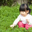 Little girl having fun in park — Stock Photo #2461344