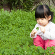 Little girl having fun in park — Stock Photo #2461354