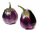 Two aubergine — Stock Photo