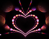 Bright fractal with heart — Stock Photo