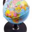 Closeup small school globe isolated — Stock Photo