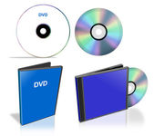 Pack of DVD disks and case — Stock Photo