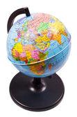 Closeup small school globe isolated — Stock Photo