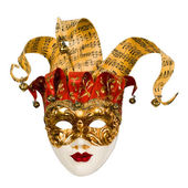 Carnival venetian mask with bells — Stock Photo