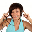 Young girl with head phones — Stock Photo #1338111
