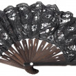 Stock Photo: Black hand fan