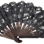 Black hand fan — Stock Photo #1338134