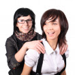 Two funny girls — Stock Photo