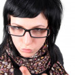 Crazy girl in glasses — Stock Photo