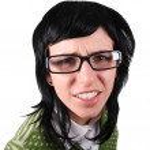 Crazy girl in glasses — Stock Photo #1338238
