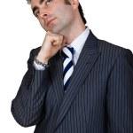 Retro businessman isolated — Stock Photo