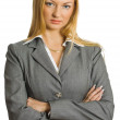 Pretty businesswoman isolated — Stock Photo