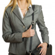 Stock Photo: Pretty businesswoman isolated