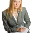 Royalty-Free Stock Photo: Pretty businesswoman isolated