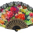 Painted spanish hand fan — Stock Photo