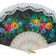 Painted hand fan — Stock Photo