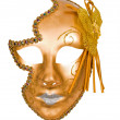Stock Photo: Golden carnival venetimask