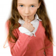 Stock Photo: Sucking little girl isolated