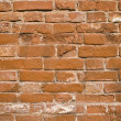 Stock Photo: Old brown brick wall abstract background