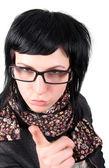メガネのクレイジー ・ ガール — ストック写真