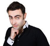 Knappe bescheiden man — Stockfoto