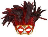 Golden carnival venetian mask — Stock Photo