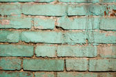 Old blue brick wall abstract background — Stock Photo