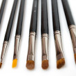 Stock Photo: Set of makeup brushes isolated