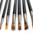 Set of makeup brushes isolated — Stock Photo