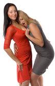 Couple of hot ladies — Stock Photo