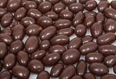 Chocolate peanut background — Stock Photo