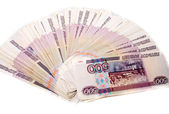 Pack of russian money isolated — Stock Photo