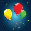 Royalty-Free Stock Vector Image: Holiday balloons.