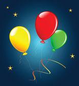 Holiday balloons. — Stock Vector