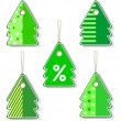 Stock Vector: Xmas tags.