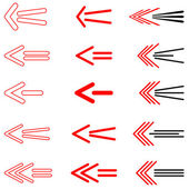 Arrows set. Design elements. — Stock Vector